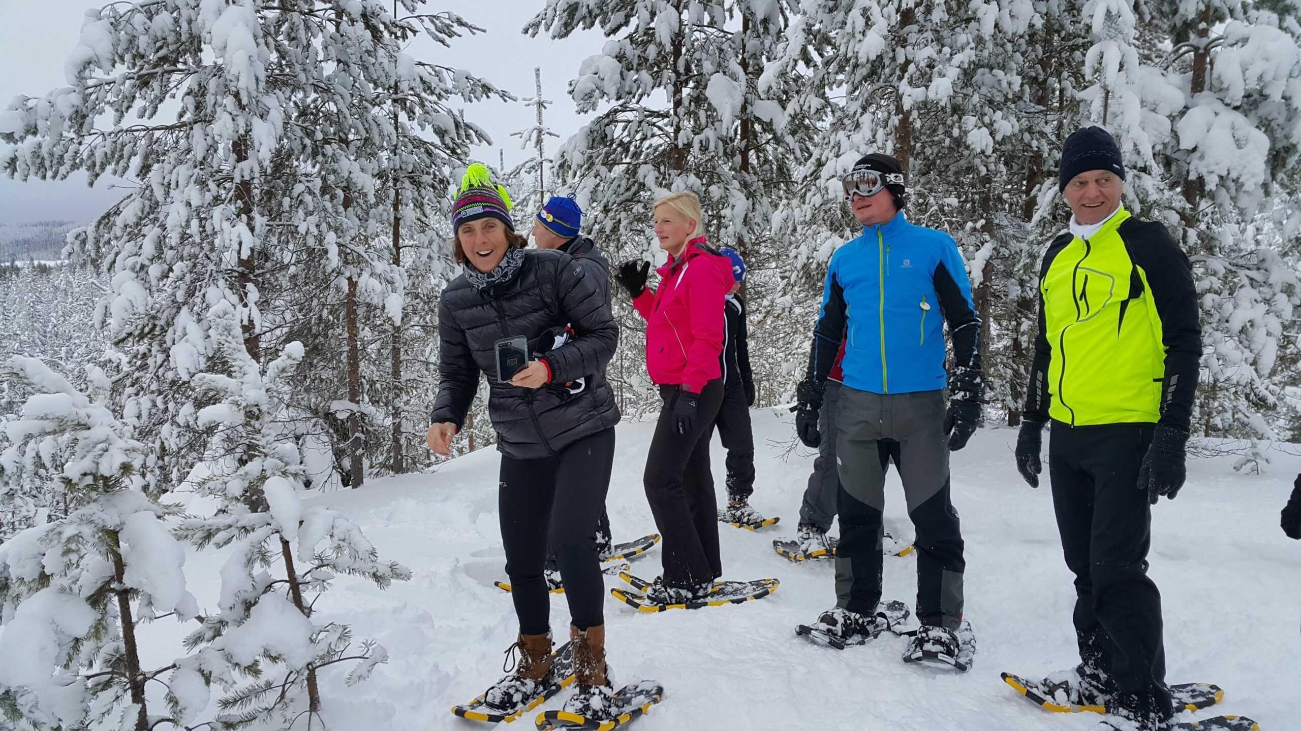 Sneeuwschoenwandelen in Zweden met inbalansalkmaar