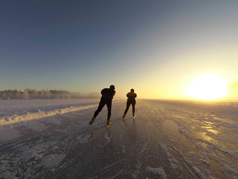 Schaatsen in Zweden met inbalansalkmaar